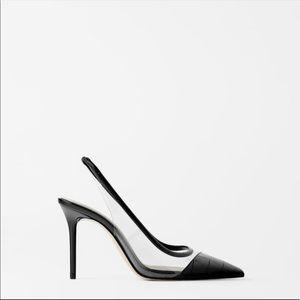 Zara Surulere Black Animal Print Heels